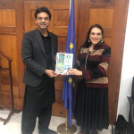 Usman Dar meets EU Ambassador Androulla Kaminara